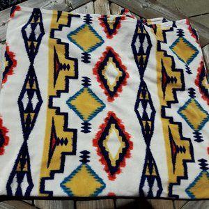 Ralph Lauren Fleece IKAT Print Blanket AZTEC NWOT